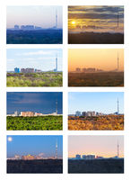 the one landscape in various seasons