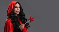 Woman with star shaped magic wand