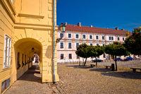 Old paved square in Tvrdja historic town of Osijek