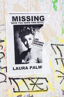 poster with a photograph of a young woman and  a text that reads: