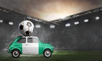 Nigeria car on football stadium