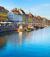 Nyhavn port Copenhagen Denmark