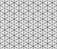 Seamless pattern based on Japanese geometric ornament .Black and white.