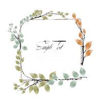 Watercolor twigs card