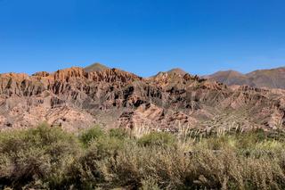 Landscape view of Tilcara, Argentina