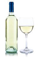 Weinflasche Weinglas Wein Flasche Glas Weißwein Weisswein Alkohol freigestellt Freisteller