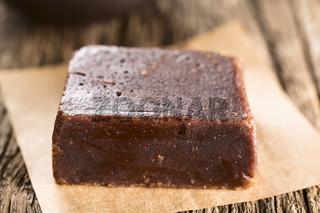 Chancaca or Panela Raw Sugar Made of Sugarcane