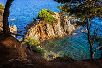 Sea Bay With Islet On Costa Brava In Spain