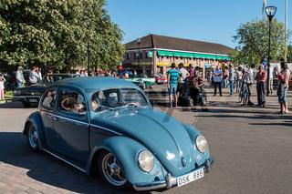 VW Käfer nahm Teil an der Oldtimer Rally zum schwedischen National Tag