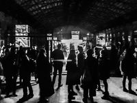 Event at Abandoned Old Train Station, Montevideo, Uruguay