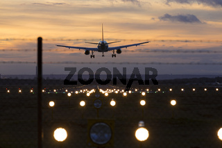 Flughafen Landebahn absperrung