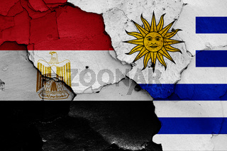flags of Egypt and Uruguay