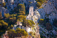Omis mountain cliff fortress view