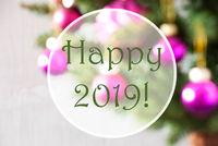 Blurry Balls, Rose Quartz, English Text Happy 2019