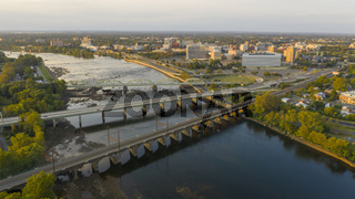 Waterfront Section Trenton New Jersey Delaware River and Capital Statehouse