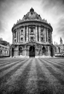 The view of Radcliffe Camera in the center of Radcliffe Square. Oxford University. Oxford. England.