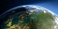Detailed Earth. Europe. Scandinavia