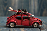 Classic Mini Red Car Model