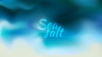 Abstract teal background. Blurred turquoise water backdrop. Vector illustration for your graphic design, banner, summer or aqua poster Sea salt text