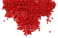 Pink Pepper. Red Peppercorns Isolated on White Background