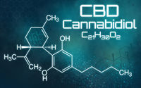 Chemical formula of Cannabidiol