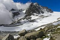 Orny Gletscher und Gipfel Le Portalet