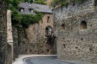 Bridge of the german castle called Rheinfels
