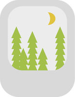 Forest At Night Icon Vector