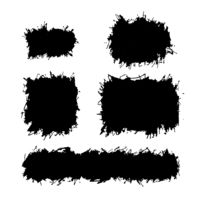 Messy grunge design elements, Ink splatters on white