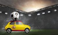 Spain car on football stadium