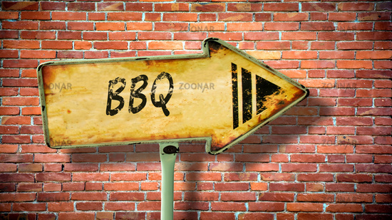 Street Sign to BBQ