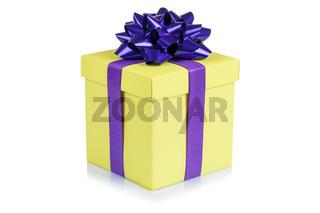Geschenk Geburtstag Weihnachten Weihnachtsgeschenk Geburtstagsgeschenk Schachtel gelb schenken
