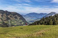 Die Luftseilbahn Gummenalp, Nidwalden, Schweiz, Europa