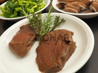 Filet steak of red deer
