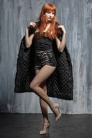 Young pretty woman with red hair