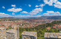 View of the Ohrid town as seen from the castle Samuil