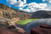 Charco de los Clicos, Lanzarote, Canary islands, Spain
