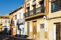 alte Häuser in El Cabanyal, Valencia, Spanien