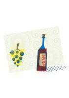 wine bottle illustration with vintage taste