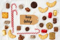 Candy Christmas Collection, Label, Text Happy Holidays