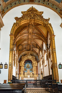 Altar in the interior of the famous church of Our Lord of Bonfm
