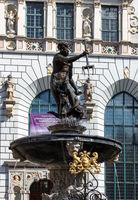 Gdańsk - Gdansk - Danzig. Neptune's Fountain.