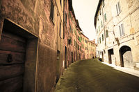Narrow street of Siena.