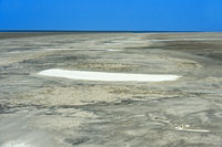 Von Wind und Gezeitenströmung geformte Sandoberfläche im Watt,Westerhever, Deutschland