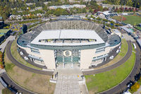 Aerial Views Of Autzen Stadium On The Campus Of The University Of Oregon
