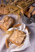 a delicious homemade wholemeal rye bread from sourdough