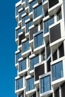 Fassade eines modernen Wohnhauses in München