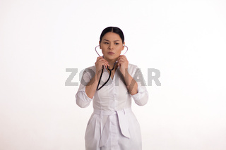 Nurse with stethoscope.