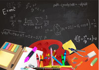 Background Back to School with Aids and Equations
