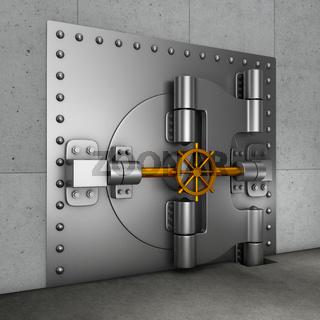 door in  banking vault